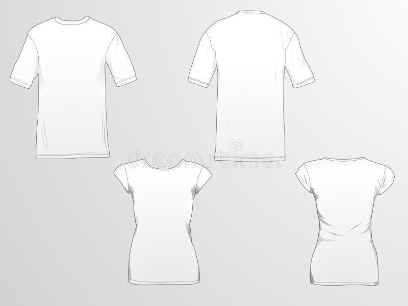 Moldes do t-shirt ilustração do vetor