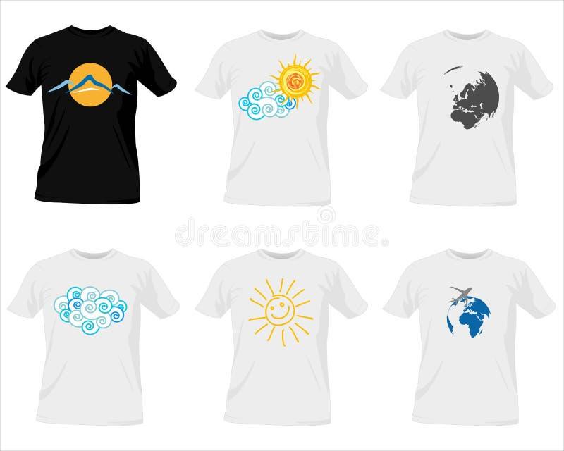 Moldes do t-shirt ilustração royalty free