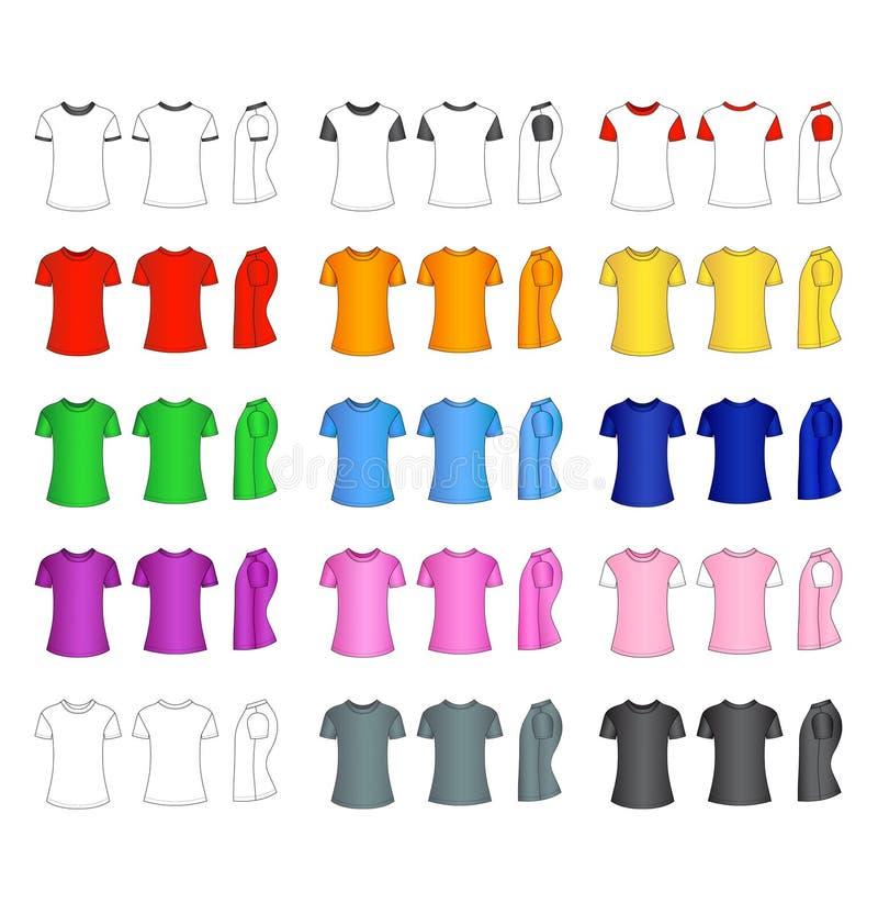 Moldes do t-shirt dos homens ilustração stock