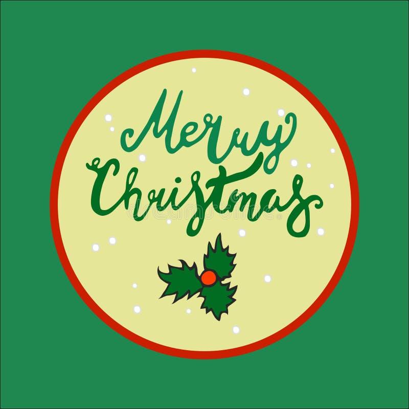 Moldes do vetor do cartão de Natal objetos tirados mão no fundo fotografia de stock