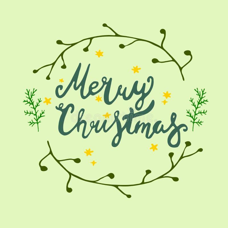 Moldes do vetor do cartão de Natal objetos tirados mão no fundo imagens de stock