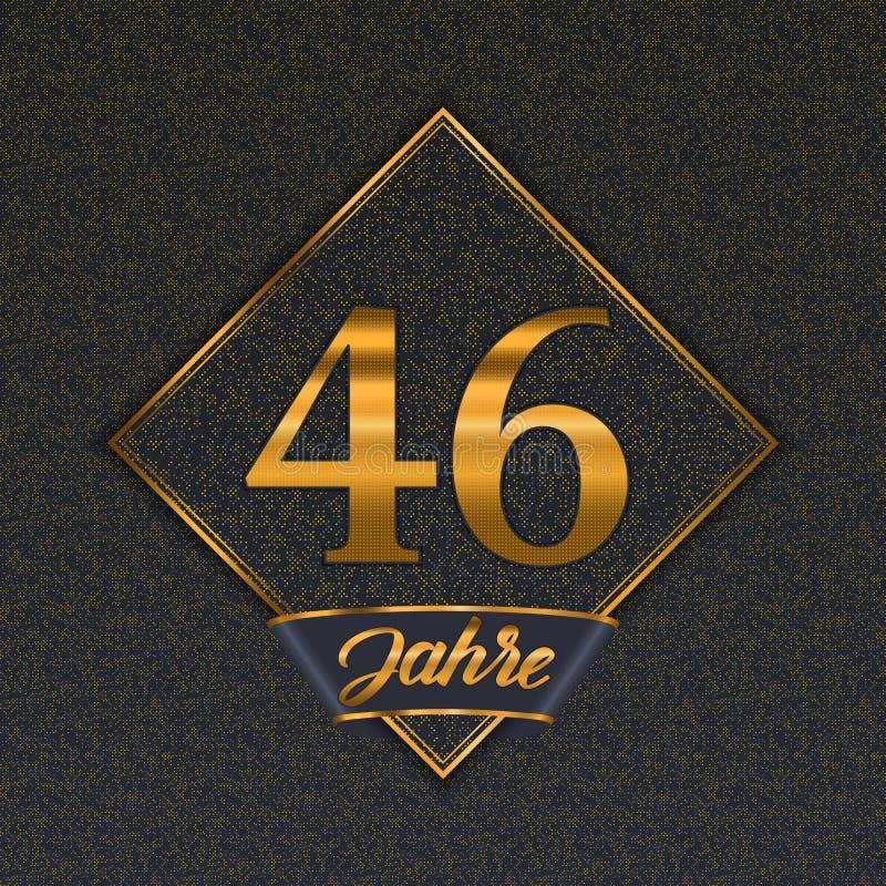 Moldes dourados alemães do número 46 ilustração do vetor