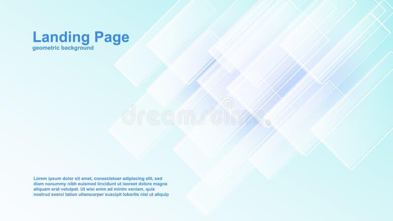 moldes geométricos do vetor do fundo da cor para a página de aterrissagem também apropriada para a capa de revista ilustração do vetor
