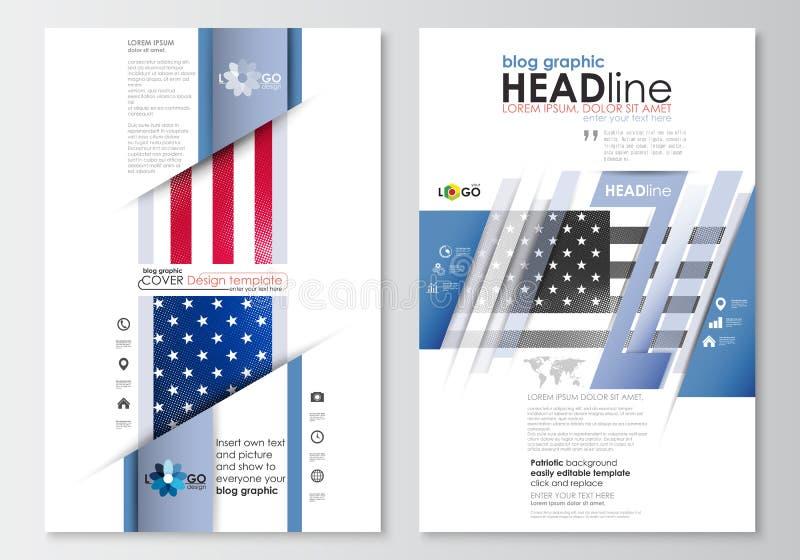 Moldes gráficos do negócio do blogue Molde do projeto do Web site da página, disposição lisa editável, abstrata fácil Dia do patr ilustração do vetor