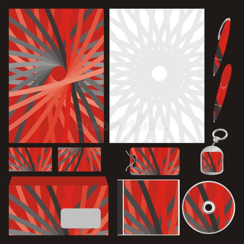 Moldes inteiramente editable do negócio do vetor ajustados prontos ilustração do vetor