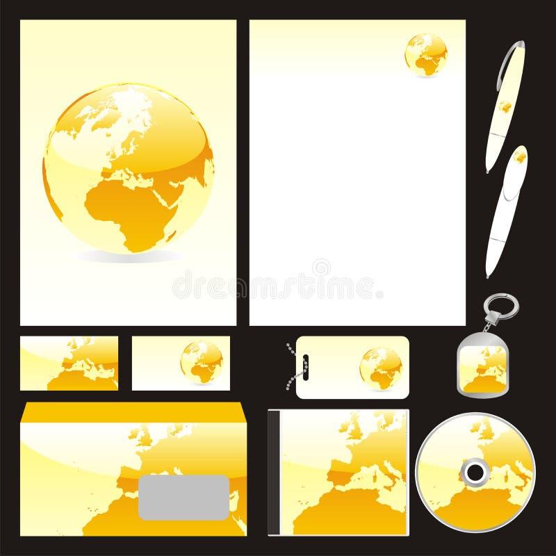 Moldes inteiramente editable do negócio do vetor ajustados prontos ilustração stock