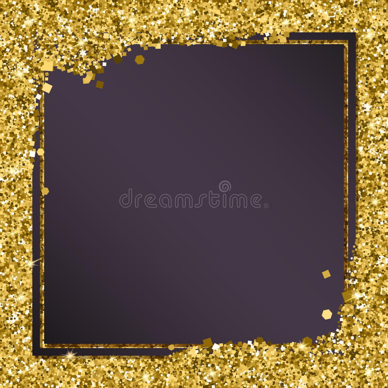 Moldes modernos abstratos da bandeira do ouro do vetor, fundo luxuoso brilhante com elementos dourados ilustração do vetor
