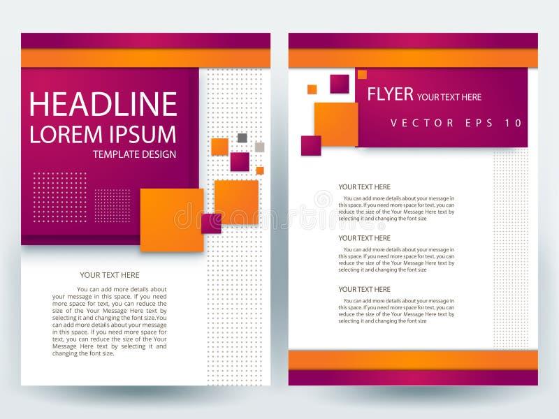 Moldes modernos do projeto do folheto dos insetos do vetor abstrato ilustração do vetor