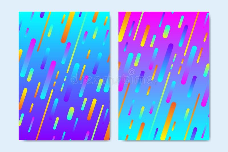 Moldes modernos do vetor para o folheto, tampa, inseto, informe anual, folheto Projeto mínimo das tampas Geométrico fresco ilustração royalty free