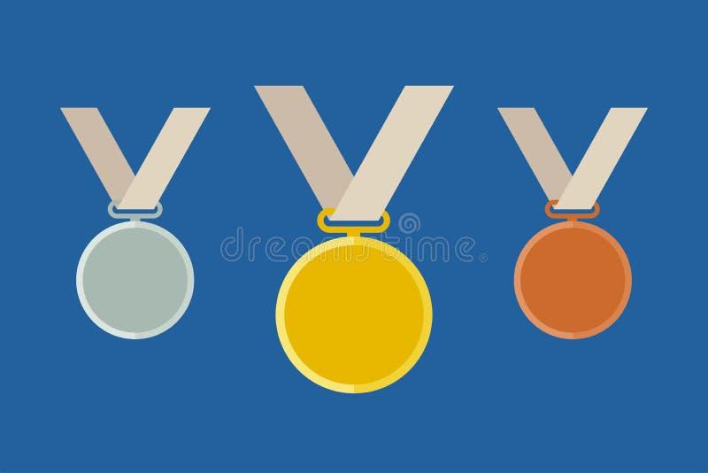 Moldes olímpicos da medalha ilustração do vetor