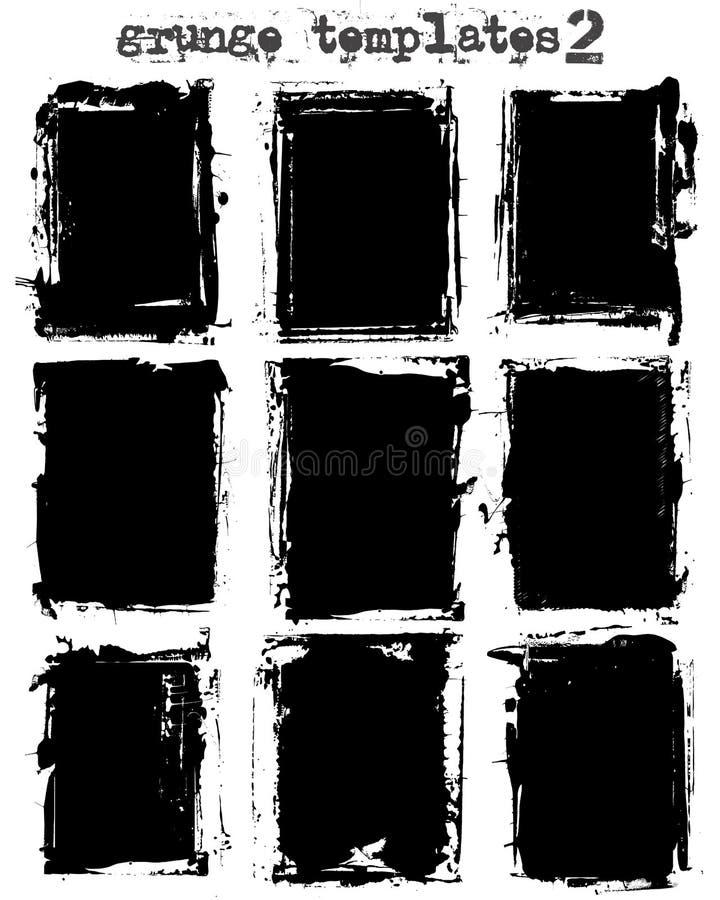 Moldes sujos ilustração do vetor