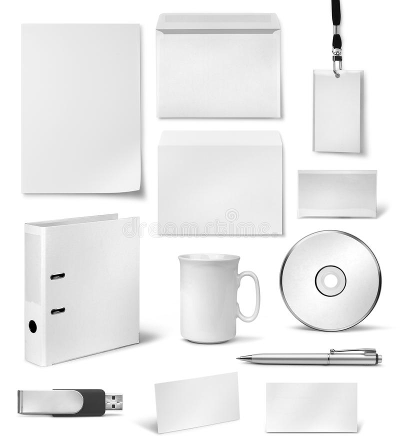 Moldes visuais incorporados do projeto da identidade ilustração stock