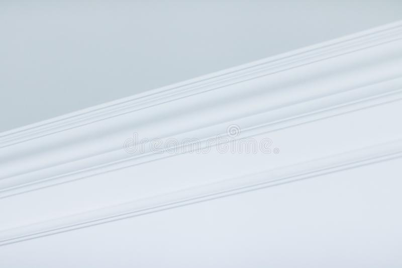 Molding on ceiling detail, interior design and architectural abstract background royalty free stock photo