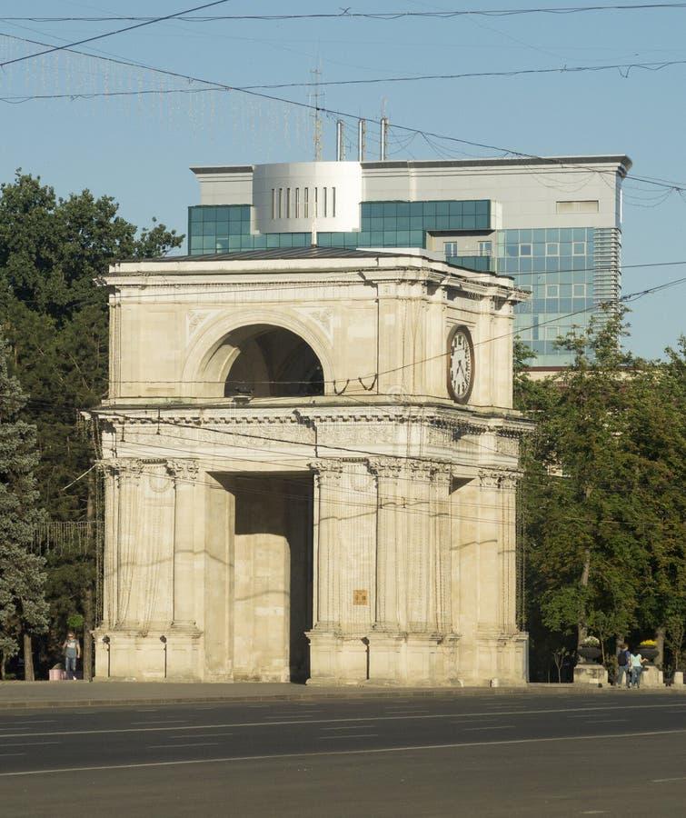 Moldova chisinau arc royalty free stock image