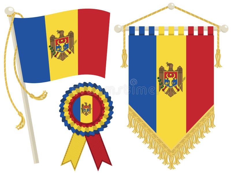 Download Moldova flags stock vector. Illustration of ribbon, rope - 25706780