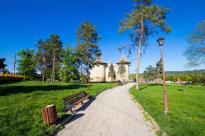 Moldovan forteca XV wiek w mieście Soroka w pięknym Pogodnym letnim dniu, Lokalizować na prawym banku zdjęcie royalty free
