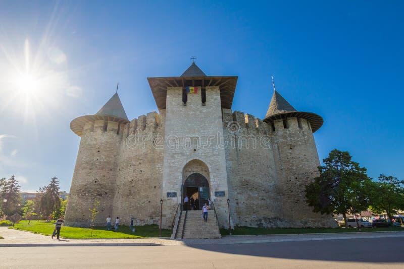 Moldovan forteca XV wiek w mieście Soroka w pięknym Pogodnym letnim dniu, Lokalizować na prawym banku zdjęcie stock