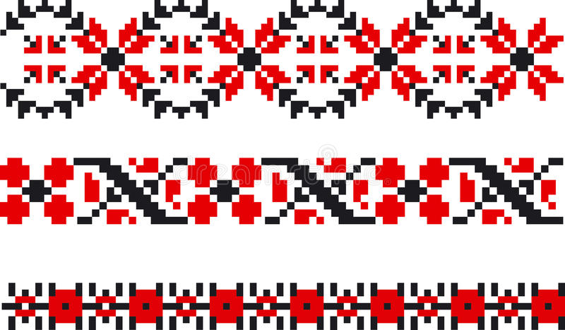 Moldovan tradycyjny wzór ilustracji