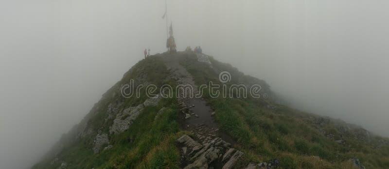 Moldoveanu mountain summit stock image