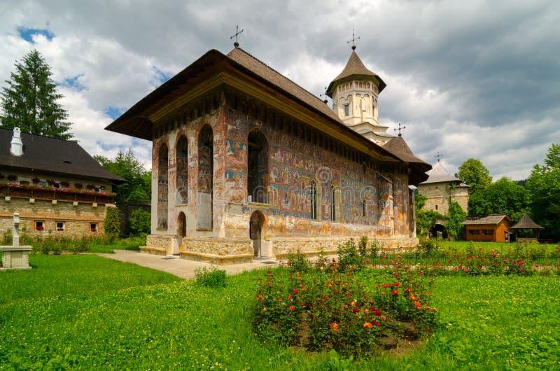 Moldovita Monastery, Romania. stock photo
