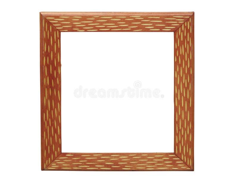 Moldura de madeira antiga para pinturas ou fotografias isolada sobre fundo branco ilustração stock