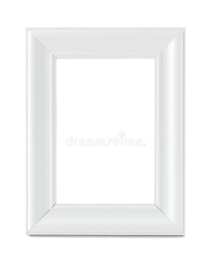 Moldura para retrato branca com trajeto de grampeamento fotos de stock