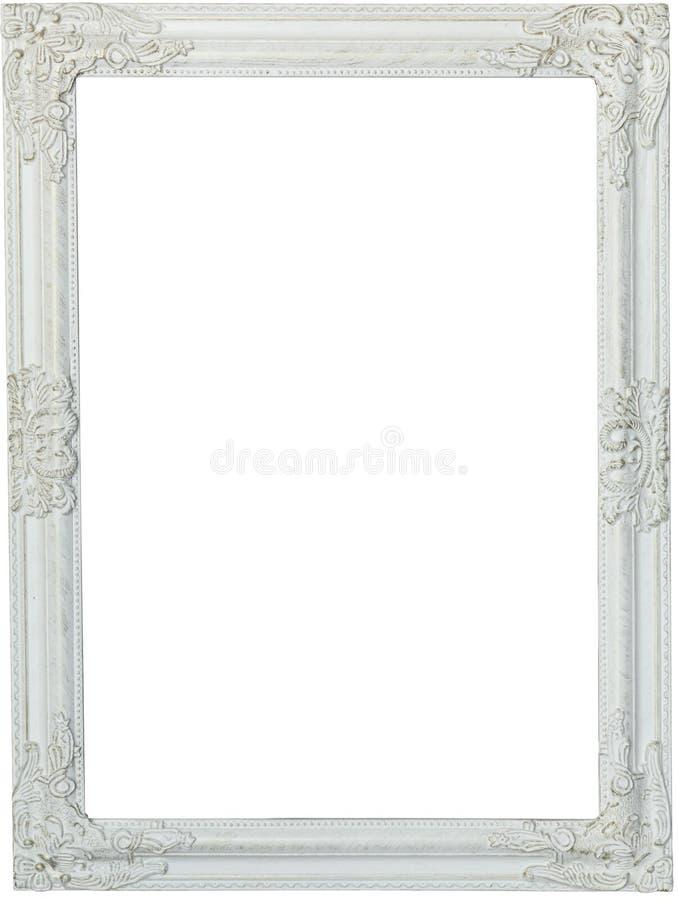 Moldura para retrato branca, pintada fotografia de stock royalty free