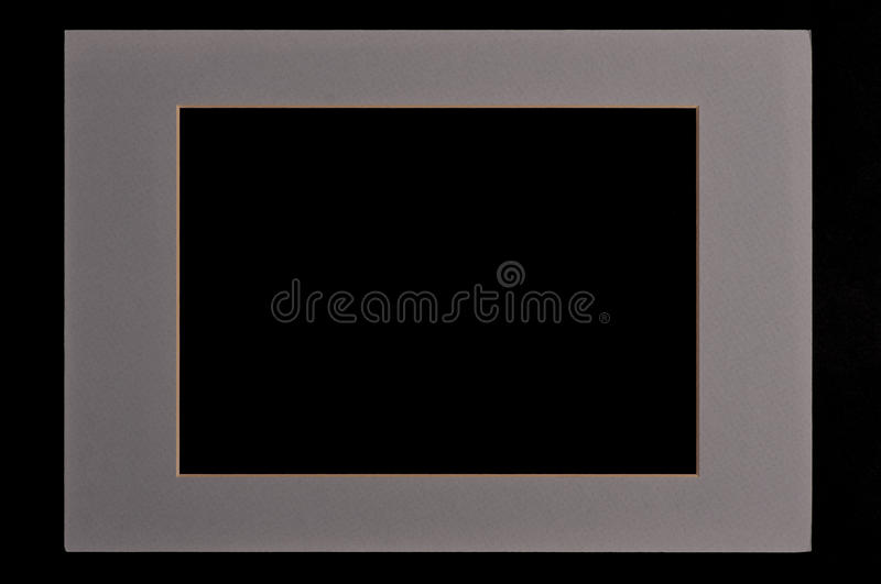 Moldura para retrato cinzenta fotografia de stock