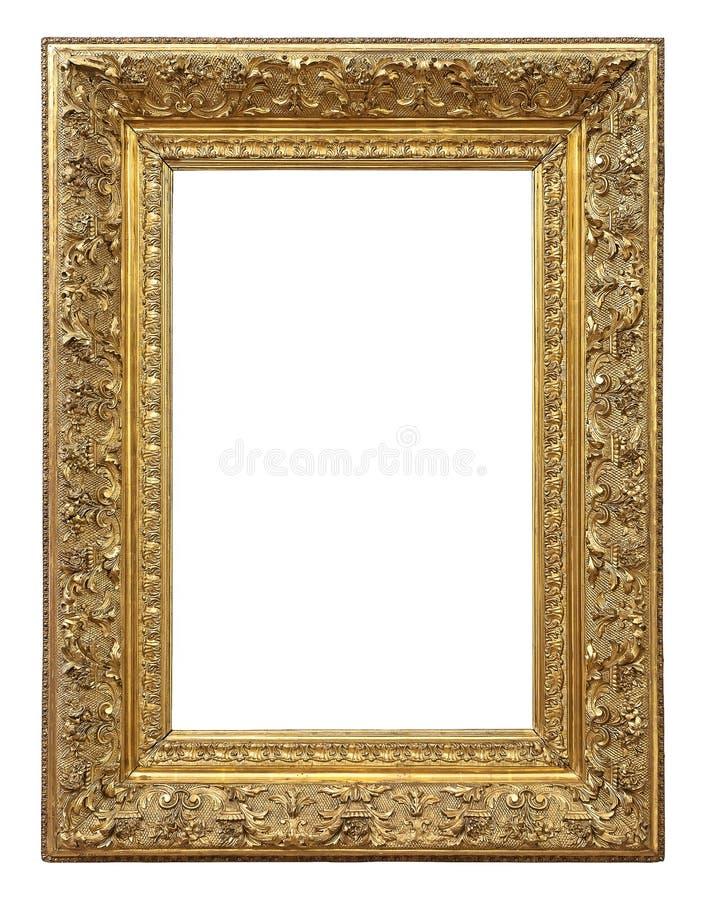 Moldura para retrato da cor do ouro do vintage fotos de stock
