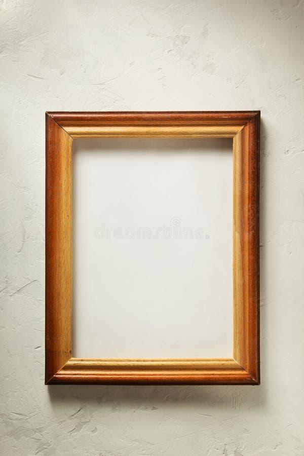 Moldura para retrato da foto na parede imagens de stock
