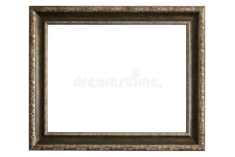 Moldura para retrato de bronze no fundo branco fotos de stock royalty free