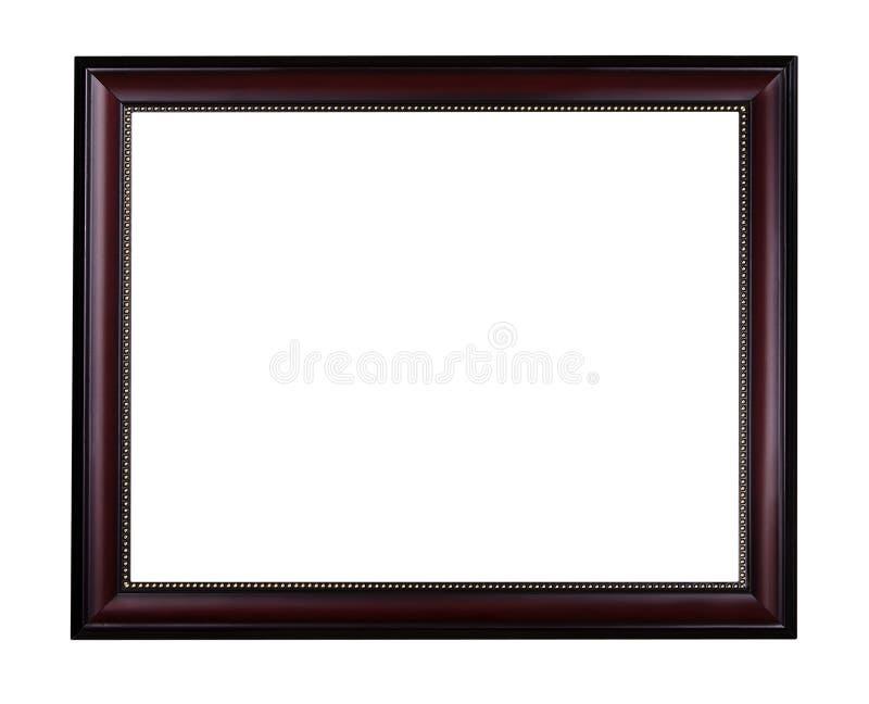 Moldura para retrato de mogno de madeira imagens de stock royalty free