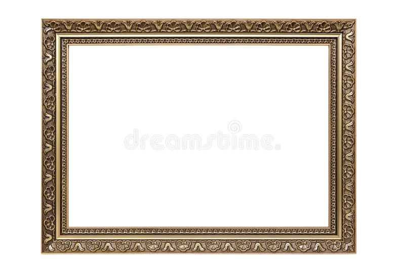 Moldura para retrato decorativa do retângulo fotografia de stock royalty free