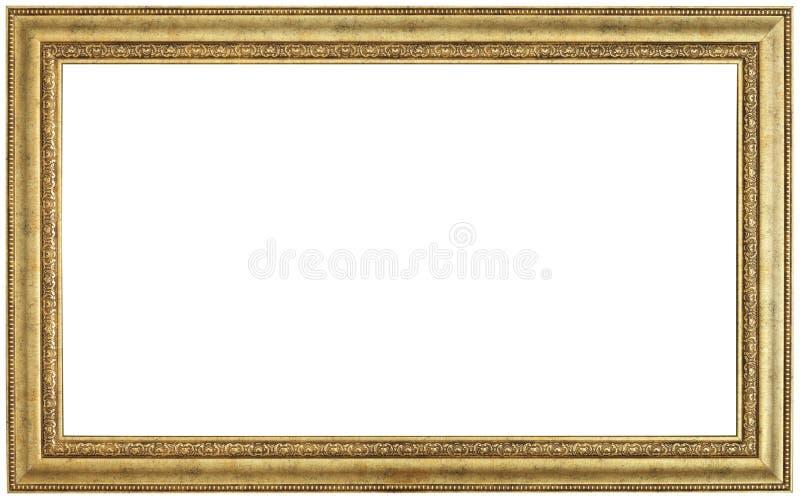 Moldura para retrato do ouro imagens de stock royalty free