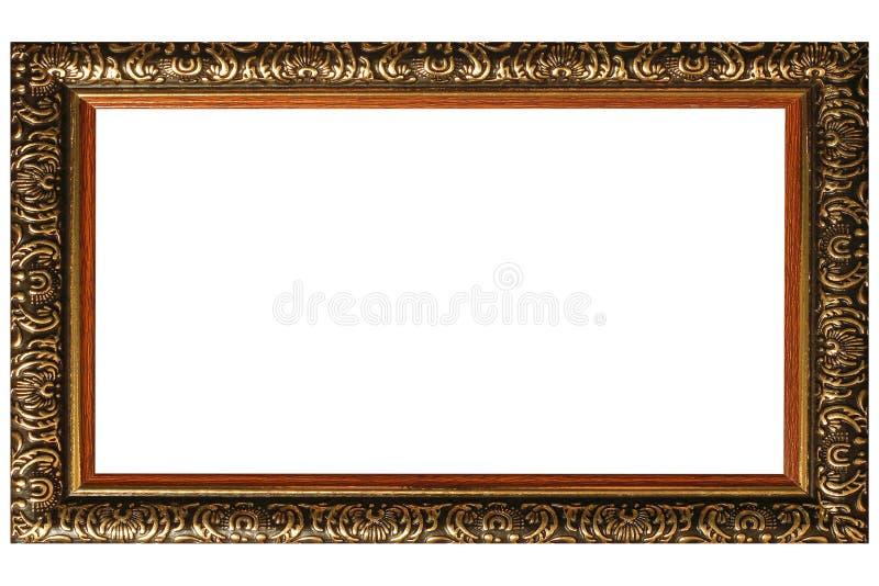 Moldura para retrato do vintage isolada no fundo branco imagens de stock royalty free
