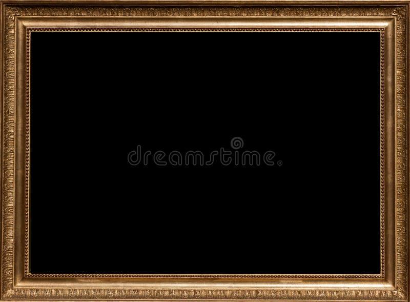Moldura para retrato dourada imagens de stock royalty free