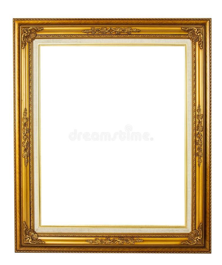 Moldura para retrato dourada da elegância fotografia de stock