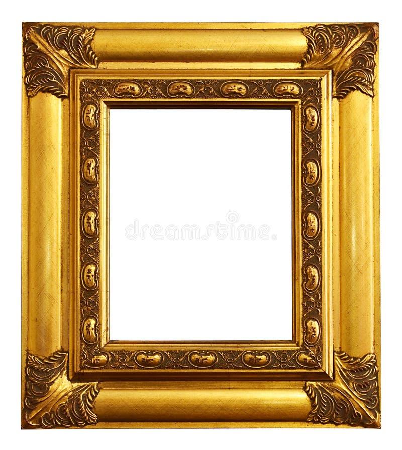 Moldura para retrato do ouro foto de stock royalty free