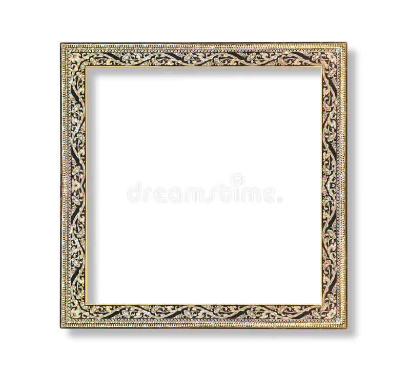 Moldura para retrato multicolorido com o teste padrão de flor isolado em b branco fotos de stock