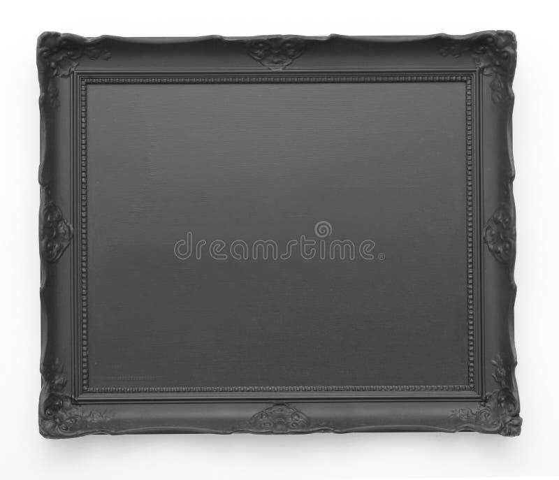 Moldura para retrato preta fotografia de stock