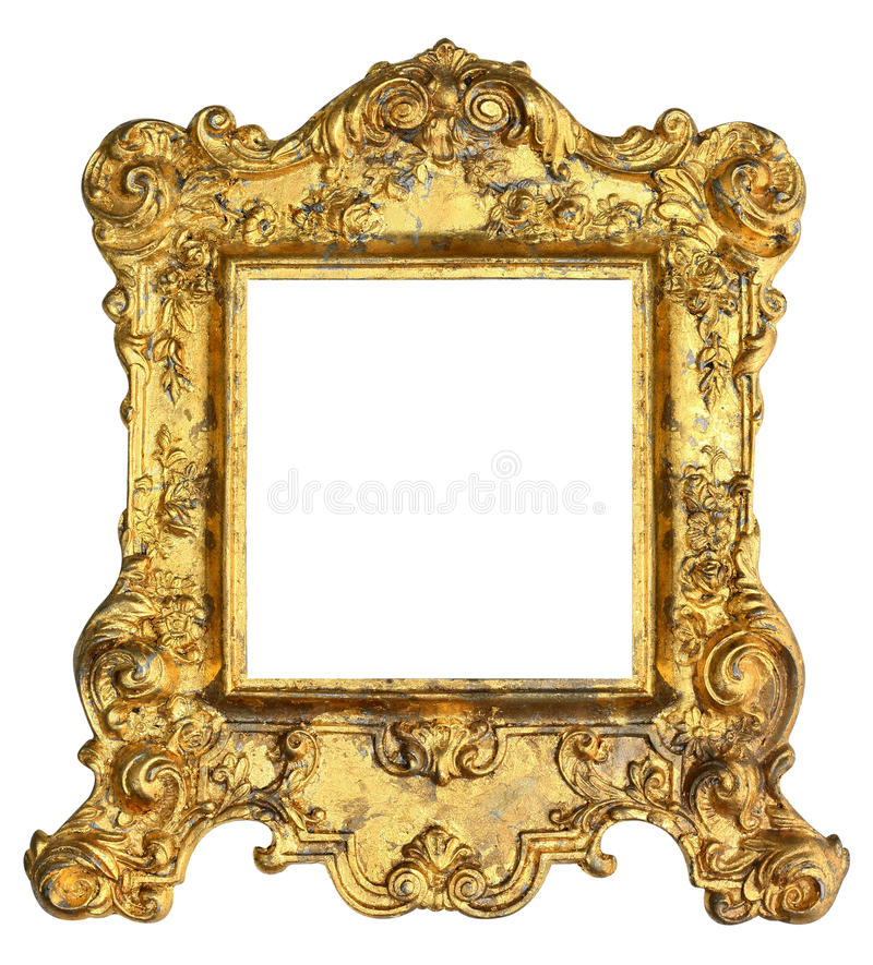 Moldura para retrato real do ouro imagens de stock royalty free