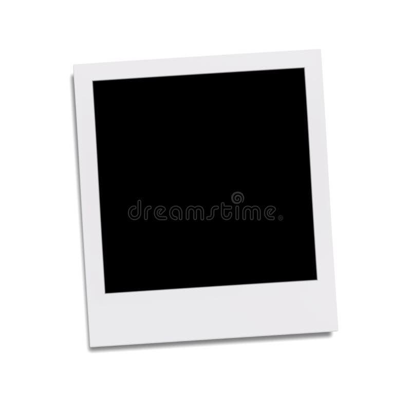 moldura para retrato típica do polaroid para seu índice ilustração stock