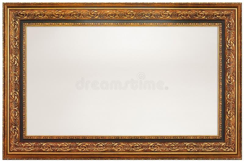 Moldura para retrato vazia - trajeto de grampeamento foto de stock