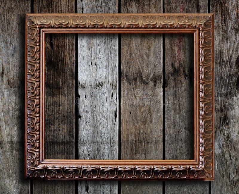 Moldura para retrato velha. imagem de stock