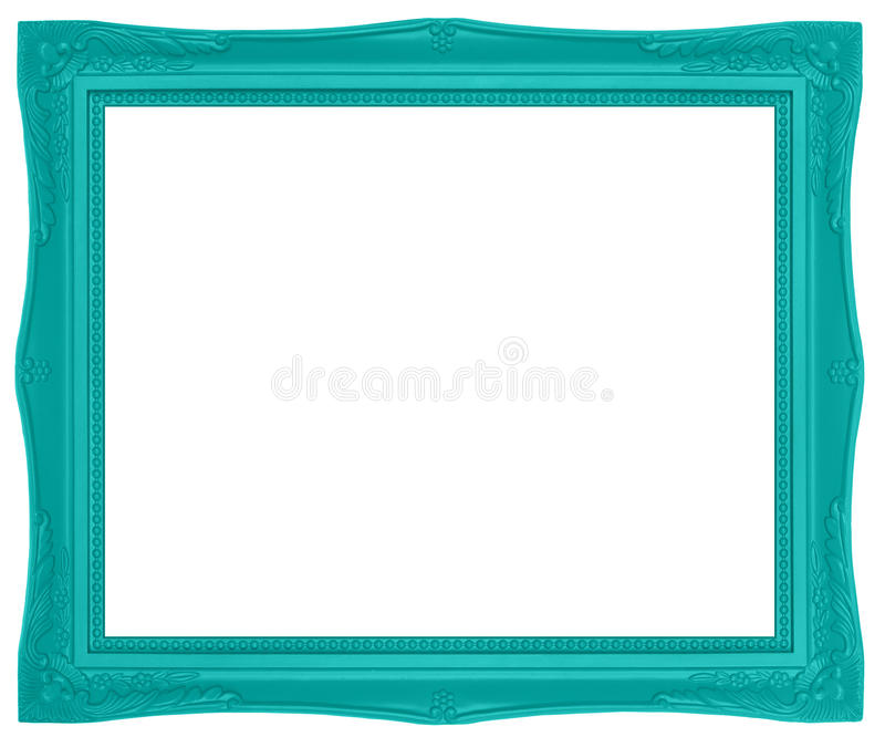 Moldura para retrato verde colorida