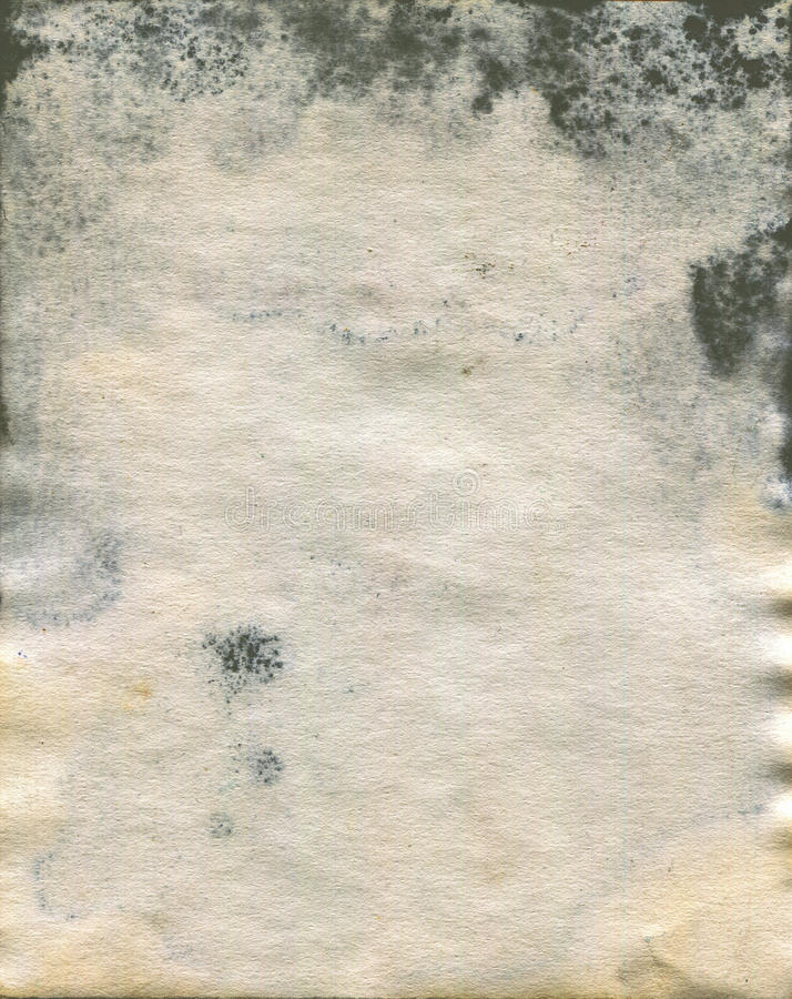 Moldy old watercolour paper texture royalty free stock photography