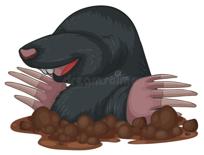 mole royaltyfri illustrationer