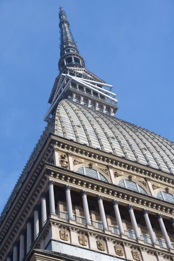 Mole Antonelliana i Turin, Italien fotografering för bildbyråer