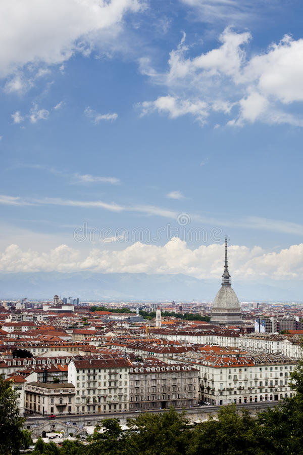 Mole Antonelliana, Turin, Piedmont, Italien. fotografering för bildbyråer
