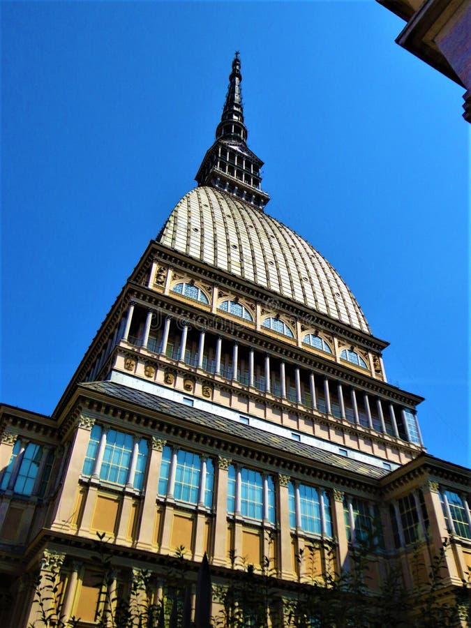 Mole Antonelliana w Turynie, Włochy Sztuka, historia, czas i architektura, symbol i godło obraz royalty free